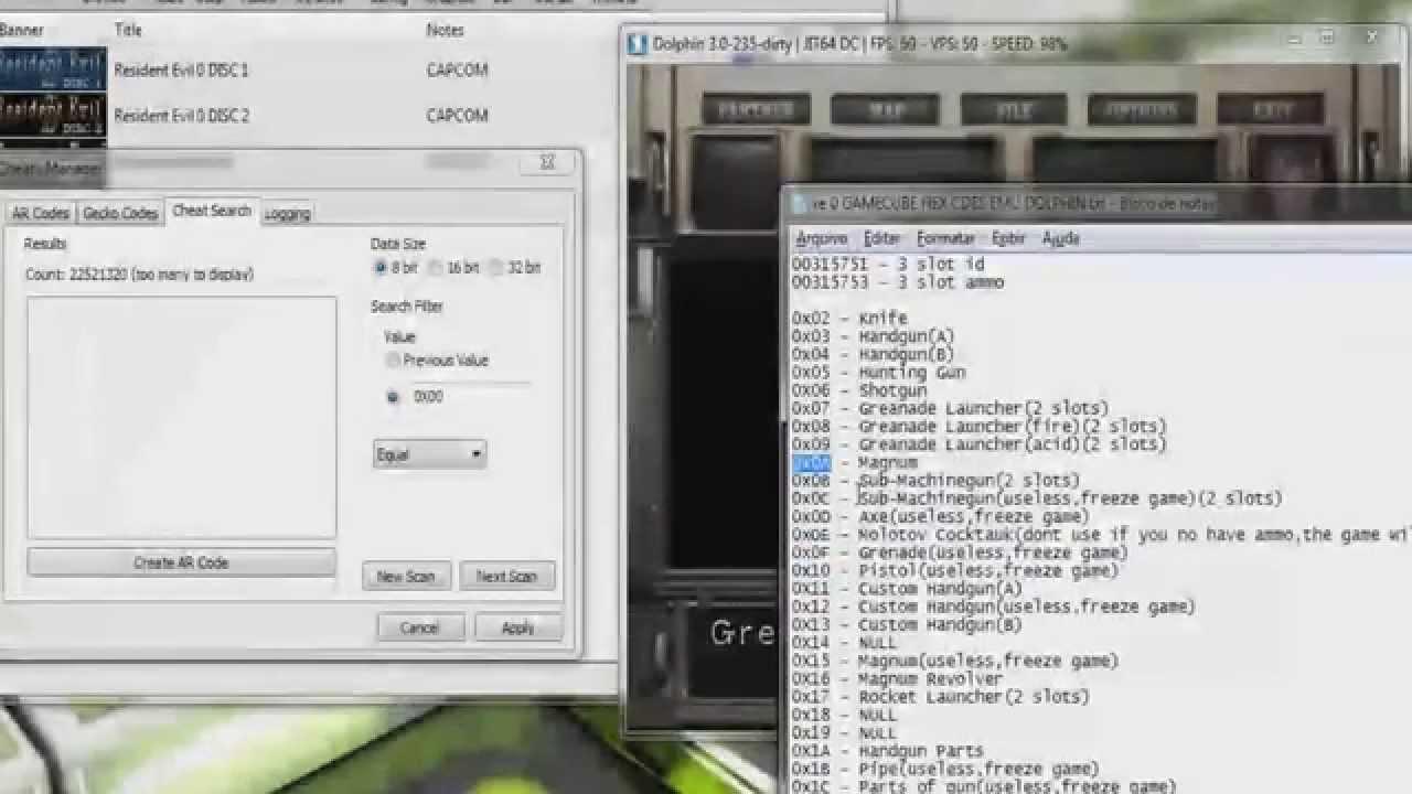 Resident Evil 0 Zero Game Cube - Cheat Engine - Item Modifier,Infinite Ammo