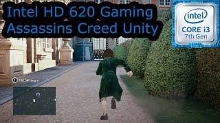 intel hd 620 gaming assassins creed unity i3 7100u i5 7200u i7 7500u kaby lake