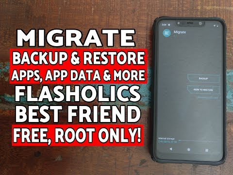 How To Use Migrate App for Backup Apps, App Data etc| Android | Custom Roms | Flashaholic