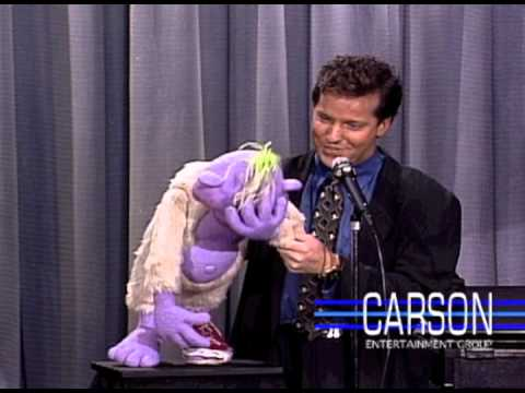 Jeff Dunham, Ventriloquist Comedian, and Peanut on Johnny Carson's Tonight Show