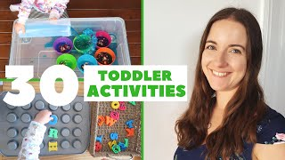 30 Toddler Activities At Home | How To Entertain A 2 3 Year Old | Love Happy Ali