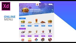 Web Design Speed Art online Menu Food/AZ UI