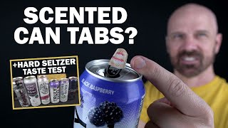 "Testing ""Tasty Tabs"" Scented Can Stickers plus Hard Seltzer Comparison!"