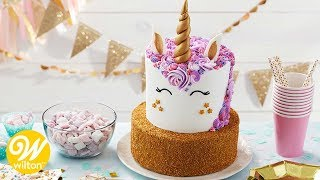 How to Make a Sparkling Tiered Unicorn Birthday Cake | Wilton