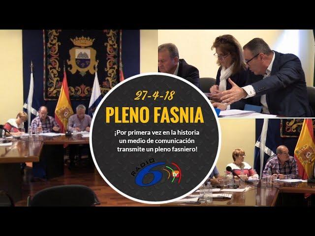 Pleno Fasnia 27-4-2018