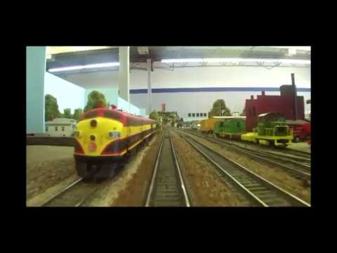 EJCM Mainliners HUGE HO Layout: Spectacular Cab Ride!
