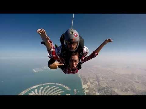 K Brosas Sky Dive in Dubai