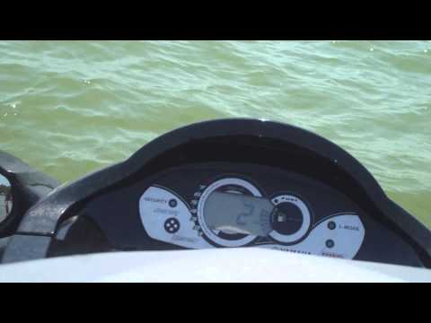 Going fast on a jet ski