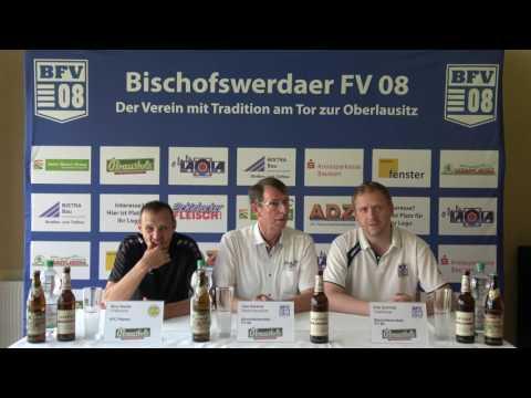 Pressekonferenz 4. Spieltag I Bischofswerdaer FV : VFC Plauen (1:1)