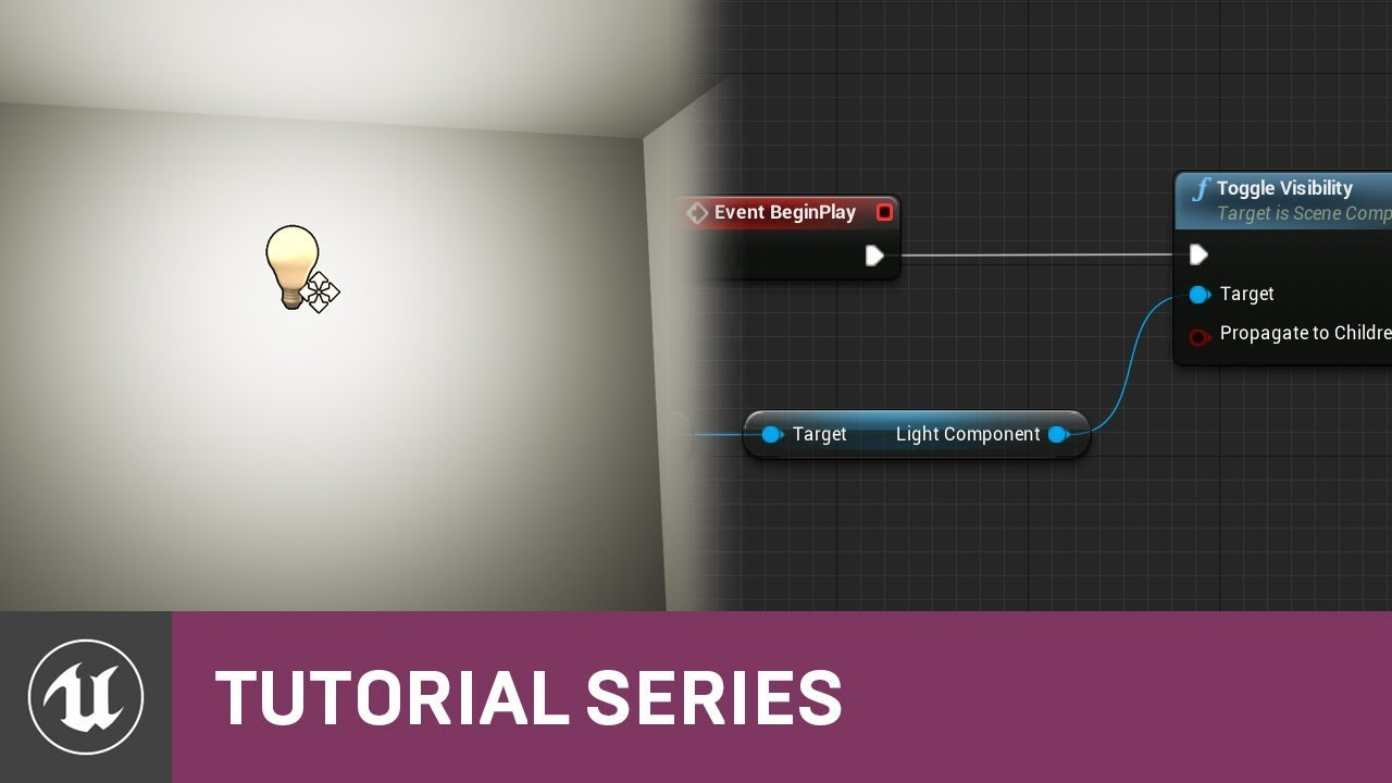 Intro to blueprints turning on a light via the level bp 02 v48 intro to blueprints turning on a light via the level bp 02 v48 tutorial series unreal engine malvernweather Choice Image