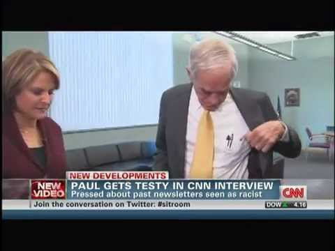 Ron Paul Walks Out On Interview With CNN Media Whore