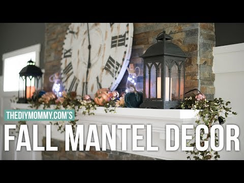 Fall Mantel Decor Idea   Fall DIY & Decor Challenge   The DIY Mommy