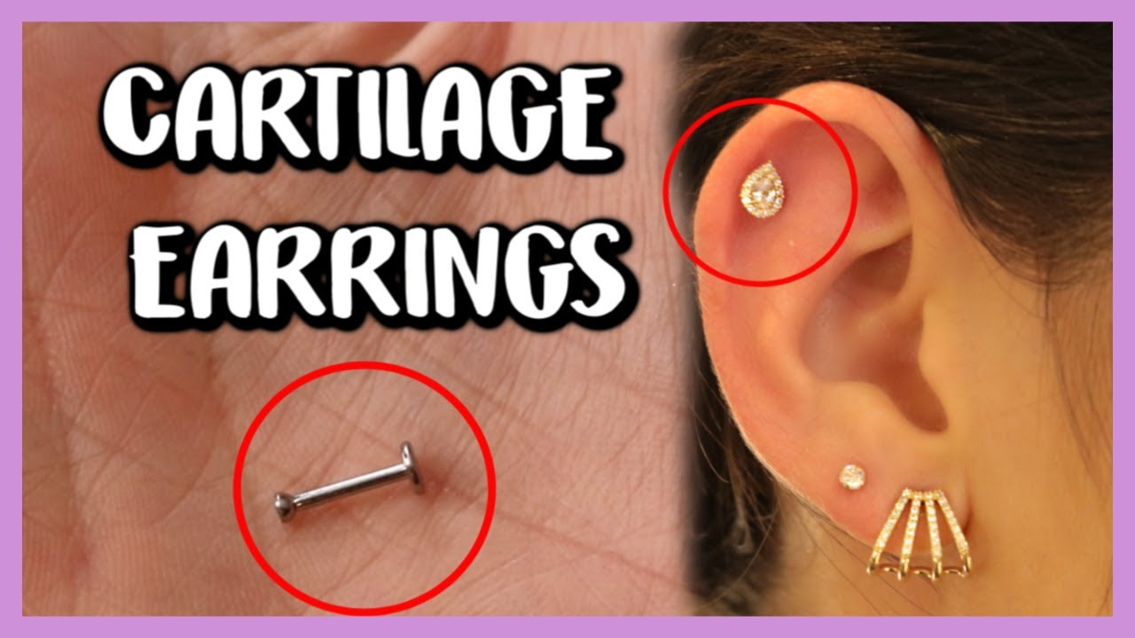 Remove And Insert Cartilage Earrings