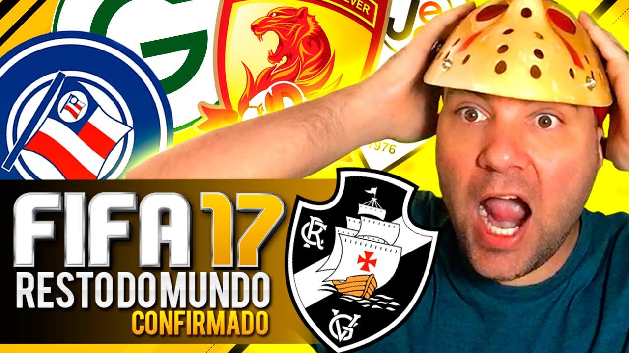 FIFA 17 TIMES BRASILEIRÃO SERIE B e TIMES CHINESES CONFIRMADOS - RESTO DO MUNDO