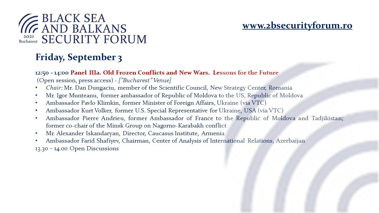 Download Panel IIIa. Old Frozen Conflicts and New Wars.  Lessons for the Future (ENG)