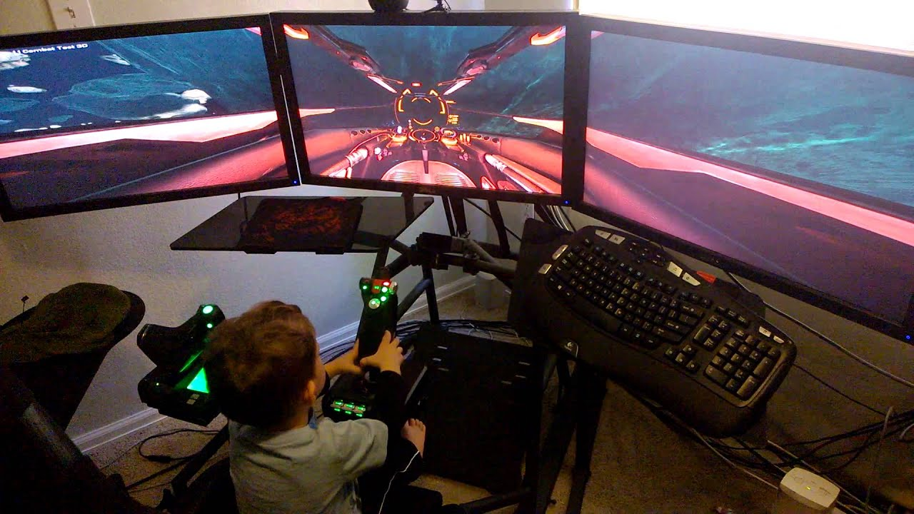 My 2 Year Old Son Plays Elite Dangerous In An Obutto