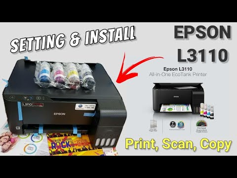 Cara instal printer EPSON L3110, setting awal, isi tinta Printer EPSON |  cara install, tutorial