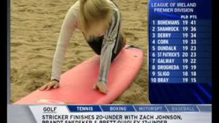 Millie Clode Sky sports news babe bare feet