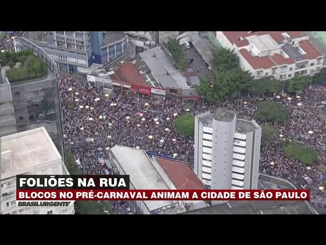 Foliões agitam no pré-Carnaval de São Paulo