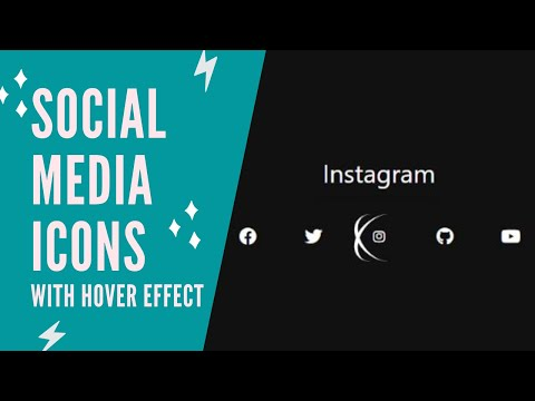 HTML & CSS Tutorial | Social Media Icons with Hover Effects