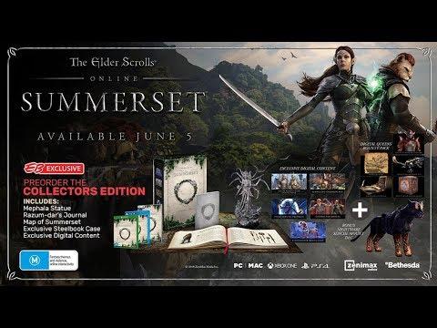 Upcoming The Elder Scrolls Online: Summerset Collector's Edition