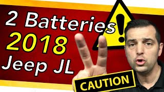 Aux battery location ⚠️ Jeep JL 2018 Wrangler ⚠️Stop Start battery location.