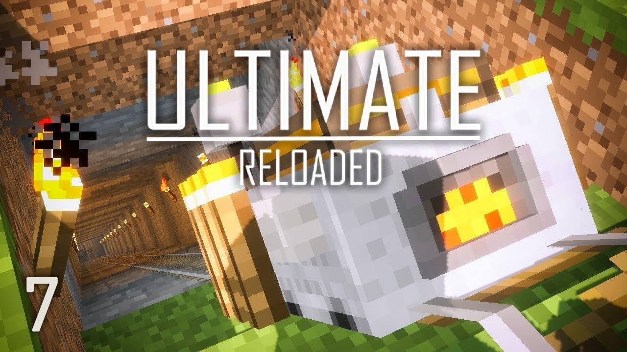 FTB Ultimate Reloaded Modpack Ep  7 Steve's Carts Quarry