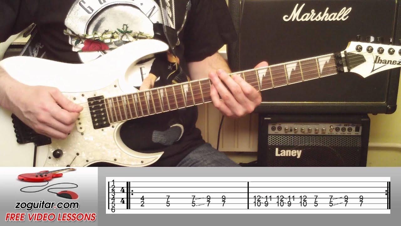 How To Play Iron Man by Black Sabbath on Guitar (main riff) + TAB - YouTube