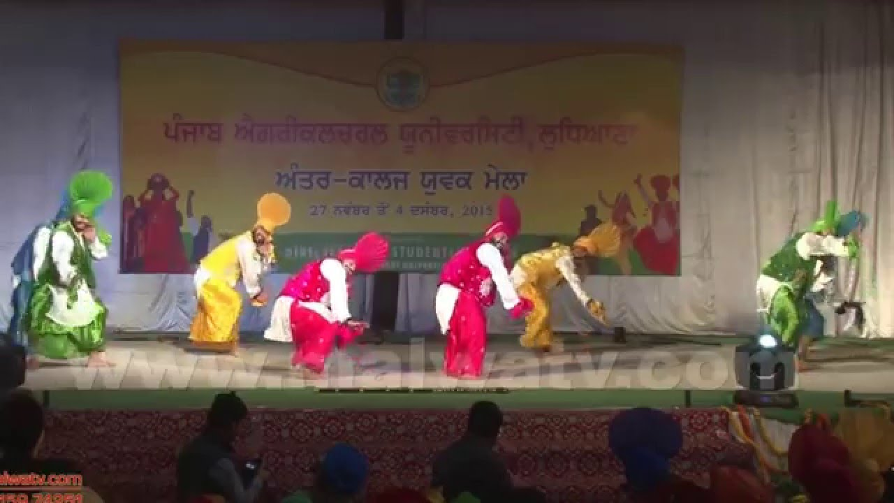 BHANGRHA | ਭੰਗੜਾ | at YOUTH FESTIVAL of PUNJAB AGRICULTURAL UNIVERSITY - 2015 || Full HD ||