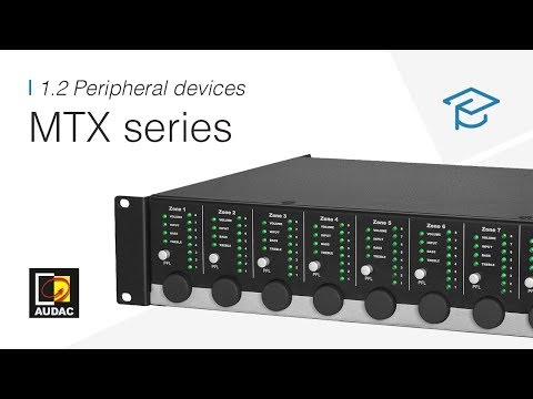 MTX series - Online seminar - 1.2 Peripheral devices