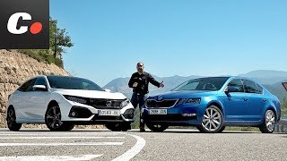 Honda Civic vs Skoda Octavia | Comparativa | Prueba / Test /Review en español | coches.net