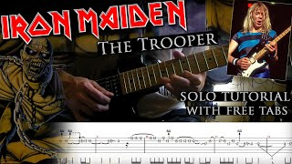 Iron Maiden - The Trooper Dave Murray's solo lesson (with tablatures and backing tracks)
