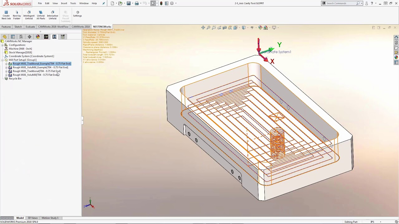 CAMWorks High Performance Toolpaths - 2 5-Axis and 3-Axis VoluMill