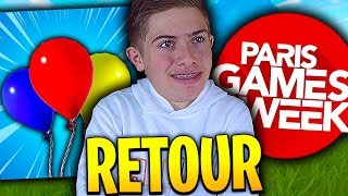 🔴 JE SUIS DE RETOUR DE LA PARIS GAMES WEEK + MISE A JOUR SUR FORTNITE BATTLE ROYALE !!!