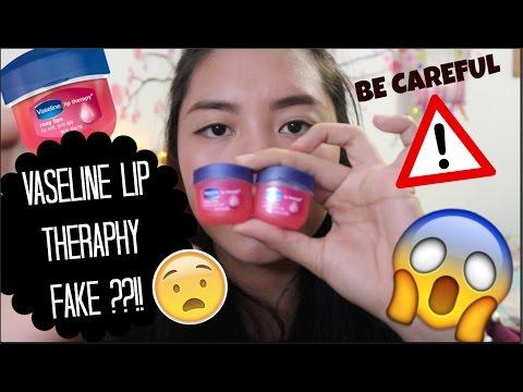 VASELINE LIP THERAPHY FAKE ?? || be careful guys! (bahasa)