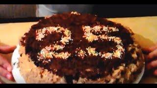 Торт с халвой без выпечки