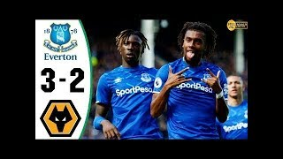 Everton Wolverhampton Wanderers 3-2 All Goals & Highlights (1/09/2019) HD 109