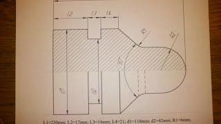 SprutCAM: токарная обработка. параметризованный чертеж
