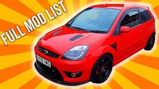 Fiesta ST150 - Full Modification List