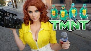 Teenage Mutant Ninja Turtles Parkour ft April ONeil Cosplay TMNT | Screen Team
