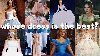 ranking 10 different verṡions of cinderella's ballgown 💎💫🧚🏻♀️