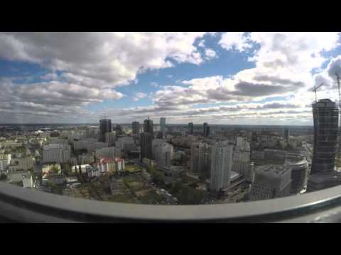 Timelaps Warsaw Trade Tower 35 floor - 4k