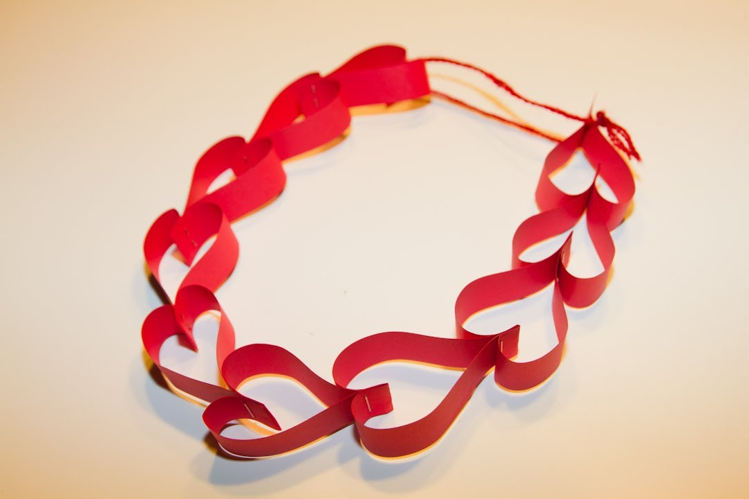 Guirnalda de corazones de papel para san valentin youtube - Corazones de san valentin ...