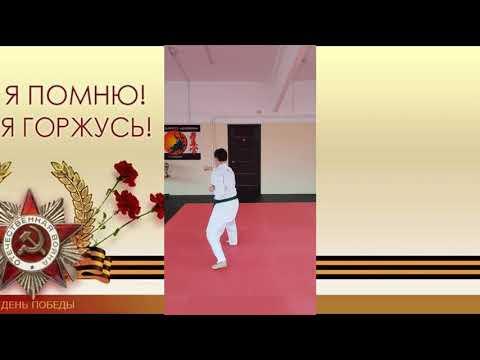 "Мастер - класс ""Сдача норматива по «карате – до» на «зеленый  пояс». Лебедев Владислав, 8 класс."