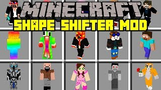Minecraft SHAPE SHIFTER MOD! | MORPH INTO ANY YOUTUBER / PLAYER! | Modded Mini-Game