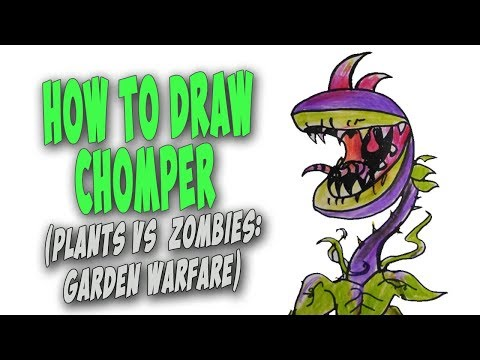 Coloring Pages For Plants Vs Zombies : How to draw chomper plants vs zombies garden warfare u mr cute