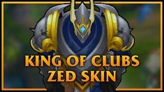 King of Clubs Zed LoL Custom Skin ShowCase