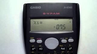 Ecuaciones con calculadora Casio fx-82 ms