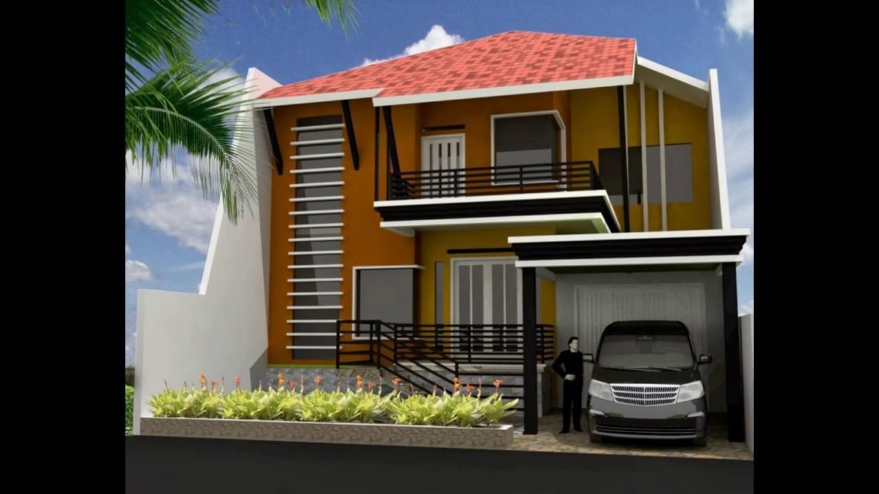 Desain Rumah Minimalis Modern Type 45 2 Lantai Unik YouTube