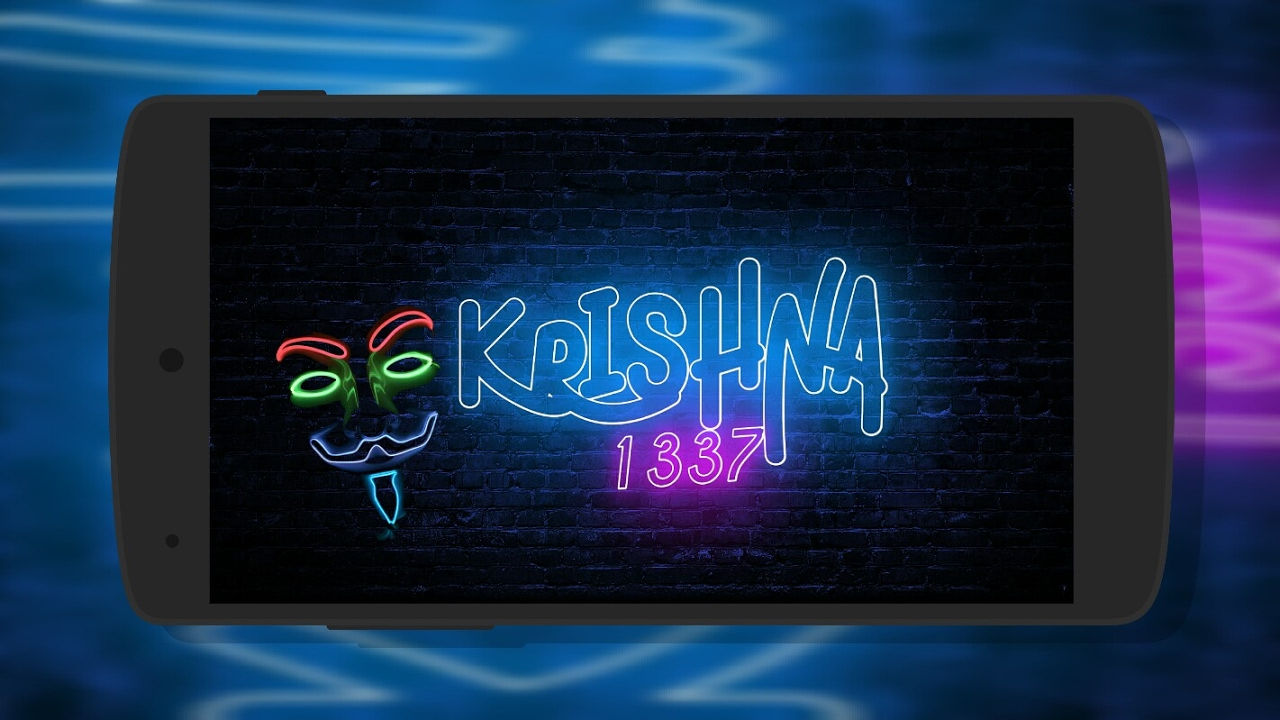 How To Make Neon Text Logo in Android 📱 | New style | For Birthday wishes  | Lighting Mod | PSTOUCH